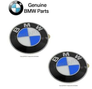 Set Of 2 Wheel Center Caps Emblem Insignia Badge 64 5mm Genuine For Bmw