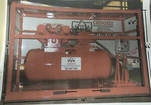 25 Hp 240 Gallon Horizontal Air Compressor Explosion Proof Skid Mounted 230 3 60