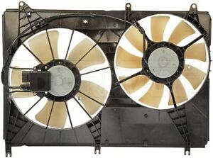 New Engine Radiator Dual Cooling Fan Assembly With Controller Dorman 620 334