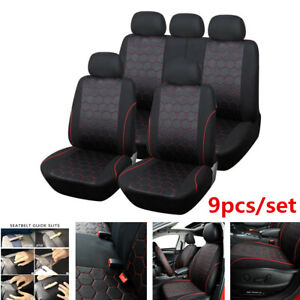 9pcs set Classic Soccer Style Car Seat Covers Protector For Interior Accessories