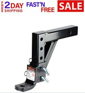 Receiver Towing System For Car Ball Mount Trailer Drop Adjustable Hitch Tow 2