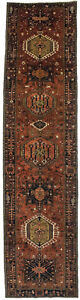 Oversized Runner Gharajeh Vintage 3x14 Persian Rug Oriental Home D Cor Carpet