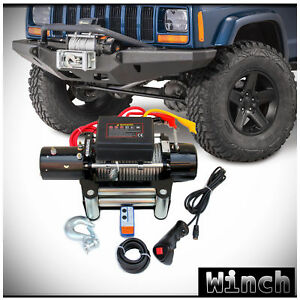 Win 2x 12v 9500lb Electric Waterproof Recovery Winch Kit W Remote
