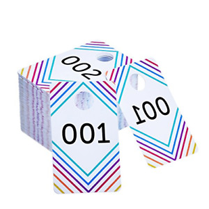 Plastic Number Tags Tag Live Sale Numbers 1 100 100 Mirrored Consecutive Pack