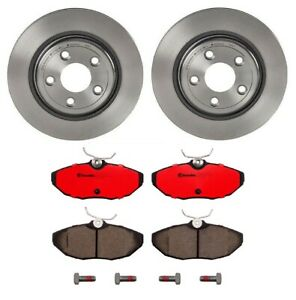 Brembo Rear Brake Kit Ceramic Pads Disc Rotors For Jaguar S Type Vanden Plas Xj8