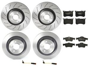 Front Rear Full Brembo Brake Kit Disc Rotors Low Met Pads For W218 Cls 550 12 18