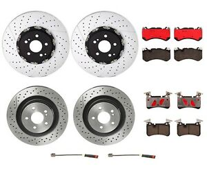 Front Rear Brembo Brake Kit Disc Rotors Ceramic Pad For Mb W204 C63 Amg P30 Pkg