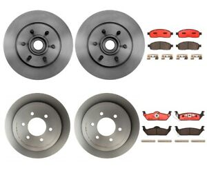 Brembo Front Rear Full Brake Kit Ceramic Pads Disc Rotors For Ford F 150 Mark Lt
