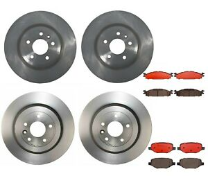 Front Rear Brembo Brake Kit Disc Rotors Ceramic Pads For Ford Taurus 2013 2015
