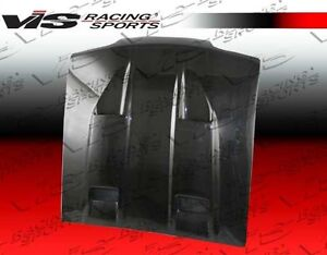 For Mustang 94 98 Ford 2dr Mach 5 Vis Racing Carbon Fiber Hood 94fdmus2dmk5 010c