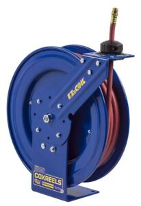 Coxreels Ez p hp 325 3 8 X 25 Grease hydraulic Oil Spring Rwd Hose Reel 4000 Psi