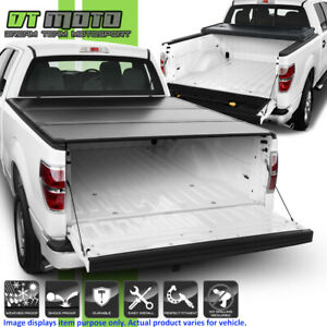 Hard Tri Fold Tonneau Cover For 2004 2014 Ford F150 Crew Cab Styleside 5 5ft Bed