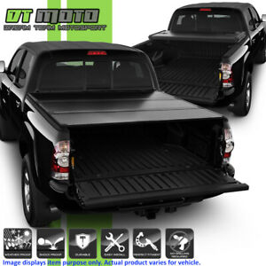 Hard Tri Fold Tonneau Cover For 2005 2015 Toyota Tacoma Double Cab 5ft 60 Bed