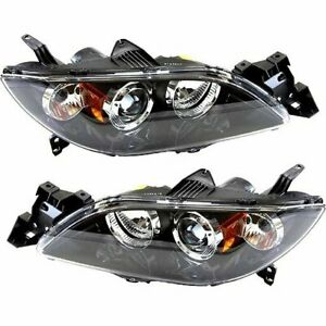 Hid Headlight Set For 2004 2006 Mazda 3 Sedan Models Left Right Pair