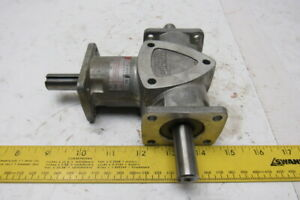 Boston Gear Ra1031 1 1 Ratio 1750rpm 1 5hp Input Dual Output Right Angle Gearbox