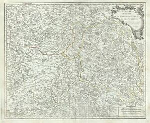 1753 Vaugondy Map Of The Limousin Marche And Auvergne Regions In France