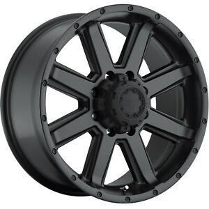 18x10 Satin Black Ultra Crusher 195 Wheels 8x6 5 25 Lifted Dodge Ram 3500