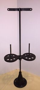 Vintage Cast Iron Industrial Sewing Machine Thread Spool Holder Double Stand