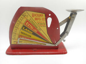 Antique Vintage Jiffy Way Quincy Il Egg Balance Weight Size Poultry Scale Nice