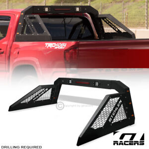 For Pickup Truck Adjusable Chase Rack Roll Bar With 3rd Brake Lamp Led Amber Ggh