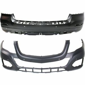 Front Rear Bumper Cover Set For 2013 15 Mercedes Benz Glk350 W Parktronic Hole
