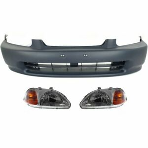 Front New Auto Body Repair Kit Coupe Sedan For Honda Civic 1996 1998