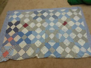 Antique Patchwork Blue Quilt