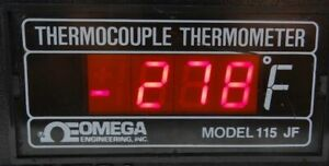 Omega Engineering Thermocouple Thermometer Model 115 Jf