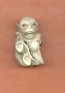 Monkey Wearing Robe Colored Netsuke Japanese 918 B