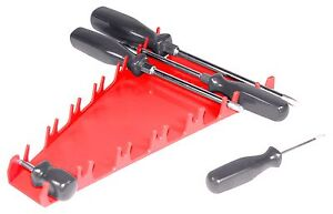 Ernst 5090 12 Tool Screwdriver Organizer Tray Red