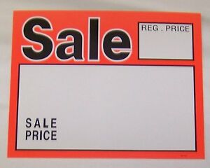 500 Lot Of Sale Signs 7 X 5 1 2 Reg Price sale Price Store Tag Signs Wholesale