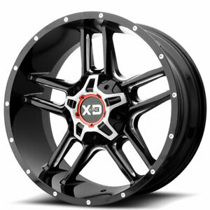 Kmc 22 Xd Wheels Xd839 Clamp Gloss Black Milled Off Road Rims Ad