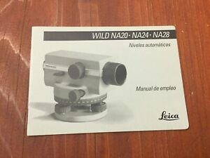 Leica Wild Heerbrugg Na20 Na24 Na28 Level User Manual Surveying Spanish
