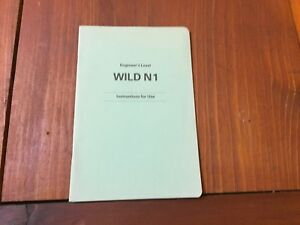 Wild Heerbrugg N1 Engineer s Level Instructions For Use Surveyor