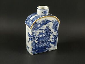 Antique Chinese Export Porcelain Tea Caddy Qianlong Reign Qing Dynasty Ca 1780