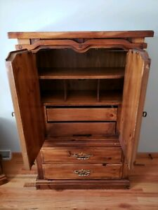 Wardrobe Armoire And Dresser Set With Mirror