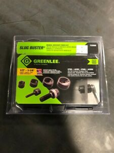 New Greenlee Slug Buster Manual Knockout Punch Set For 1 2 1 1 4 Conduit 7235bb