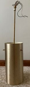 Vintage Ejs Lighting Hanging Metal Lamp Light Fixture Mid Century Modern Atomic
