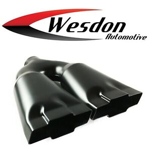 Exhaust Tip 2 25 Inlet 4 75 Outlet 13 75 Lg High Temp Black Wdcb225bowtie Bk Ss