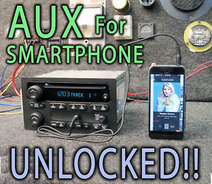 03 04 05 Chevy Gm Gmc Truck Suv Stereo Radio Cd Disc Player Mp3 Ipod Auxiliary