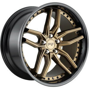 20x10 Bronze Black Niche Methos M195 Wheels 5x120 45 Fits Chevrolet Camaro