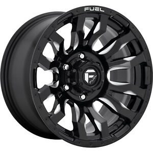 20x10 Black Milled Fuel Blitz D673 Wheels 5x5 18