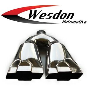 Exhaust Tip 2 25 Inlet 4 75 Outlet 13 75 Lg High Stainless Wdcb225bowtie Ss