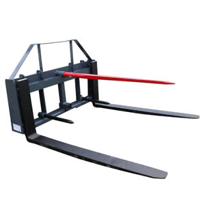 Ua 48 Pallet Fork Hay Frame Attachment With Spears Rack And Hitch Made In Usa