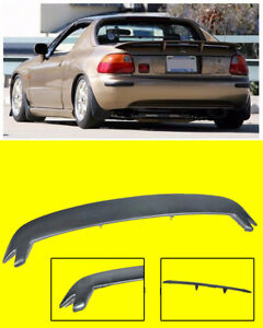 For 93 97 Honda Civic Crx Del Sol Mugen Style Rear Trunk Lip Spoiler Wing Kit