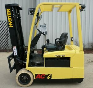 Hyster J35zt 2008 3500 Lbs Capacity Great 3 Wheel Electric Forklift