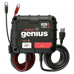 Noco Gen1 10 Amp 1 Bank 12v Waterproof Onboard Deep Cycle Battery Charger