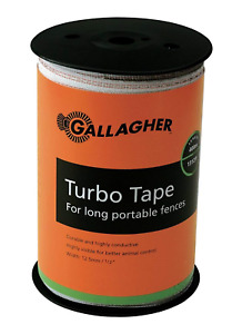 Gallagher G623564 Electric Fence 1 2 inch Turbo Tape 1312 feet White