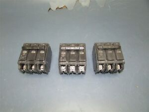 Lot Of 3 Used Ge 60a Circuit Breakers