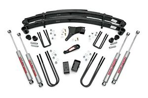 Rough Country 4 Suspension Lift Kit Ford F350 86 98 Straight Axle 4wd 4x4